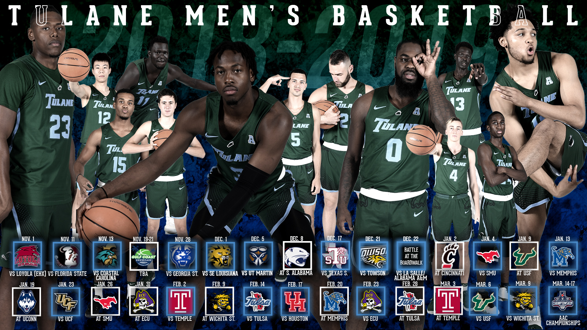 inside the complete tulane men's basketball 2018-19 season schedule