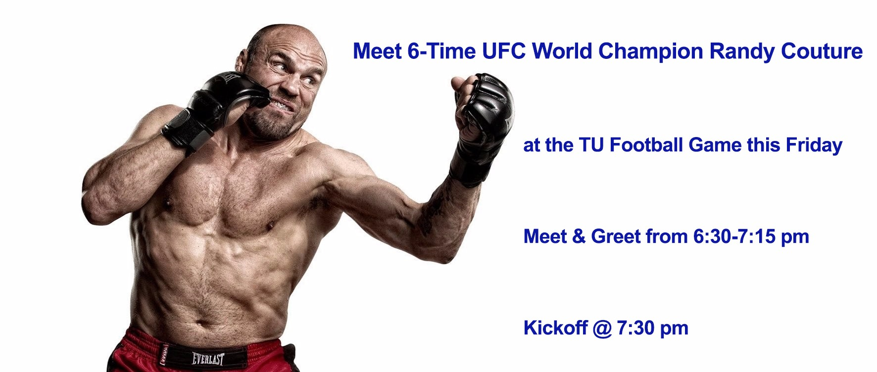 Meet Six Time Ufc Champion Randy Couture At Tulsa Football Home