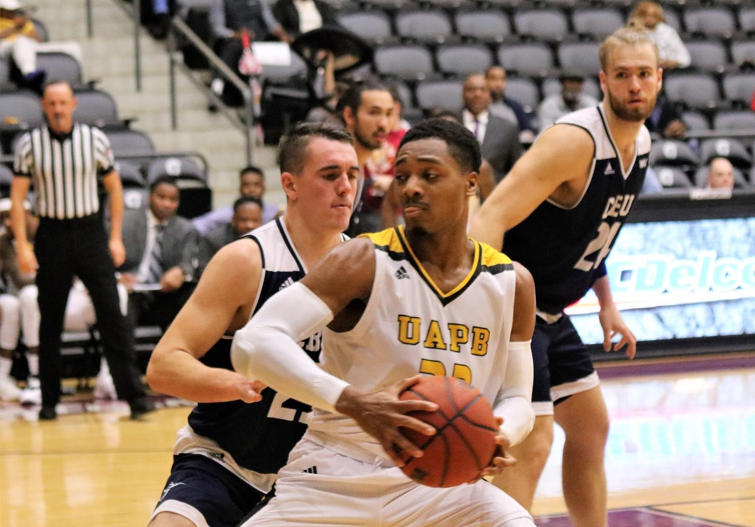 UAPB senior guard Martaveous McKnight finished with 20 points in the victory over Little Rock and was named tournament MVP.