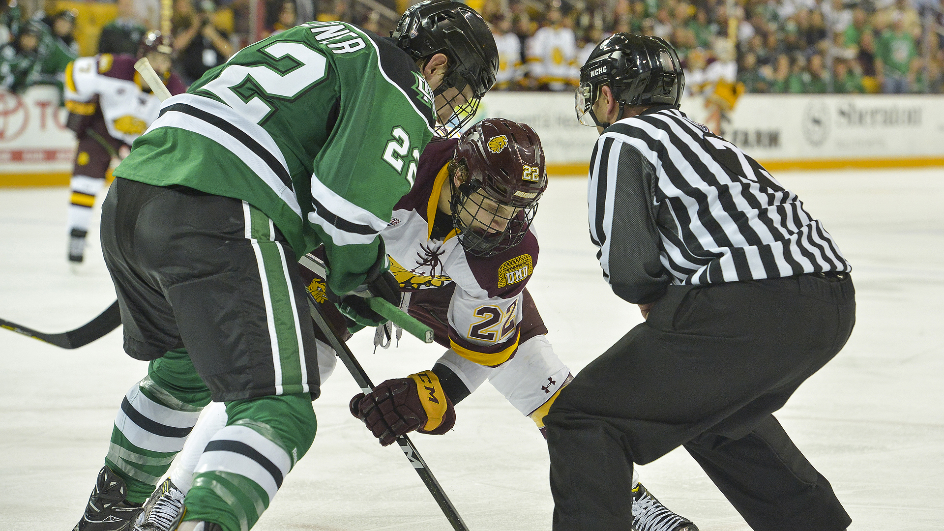 surging bulldogs back at amsoil arena (finally) for nchc showdown