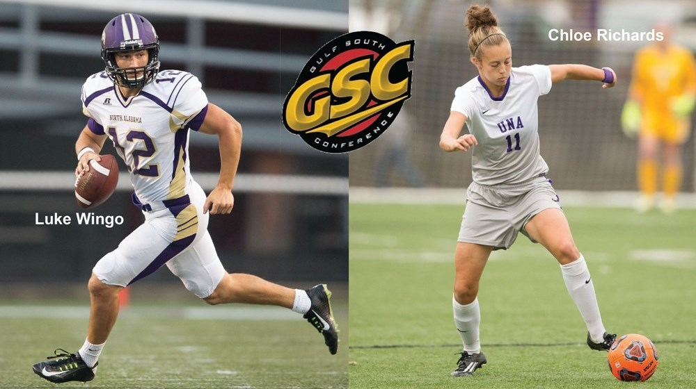 ee2698c76 University of North Alabama - UNA S RICHARDS AND WINGO IN GSC TOP TEN