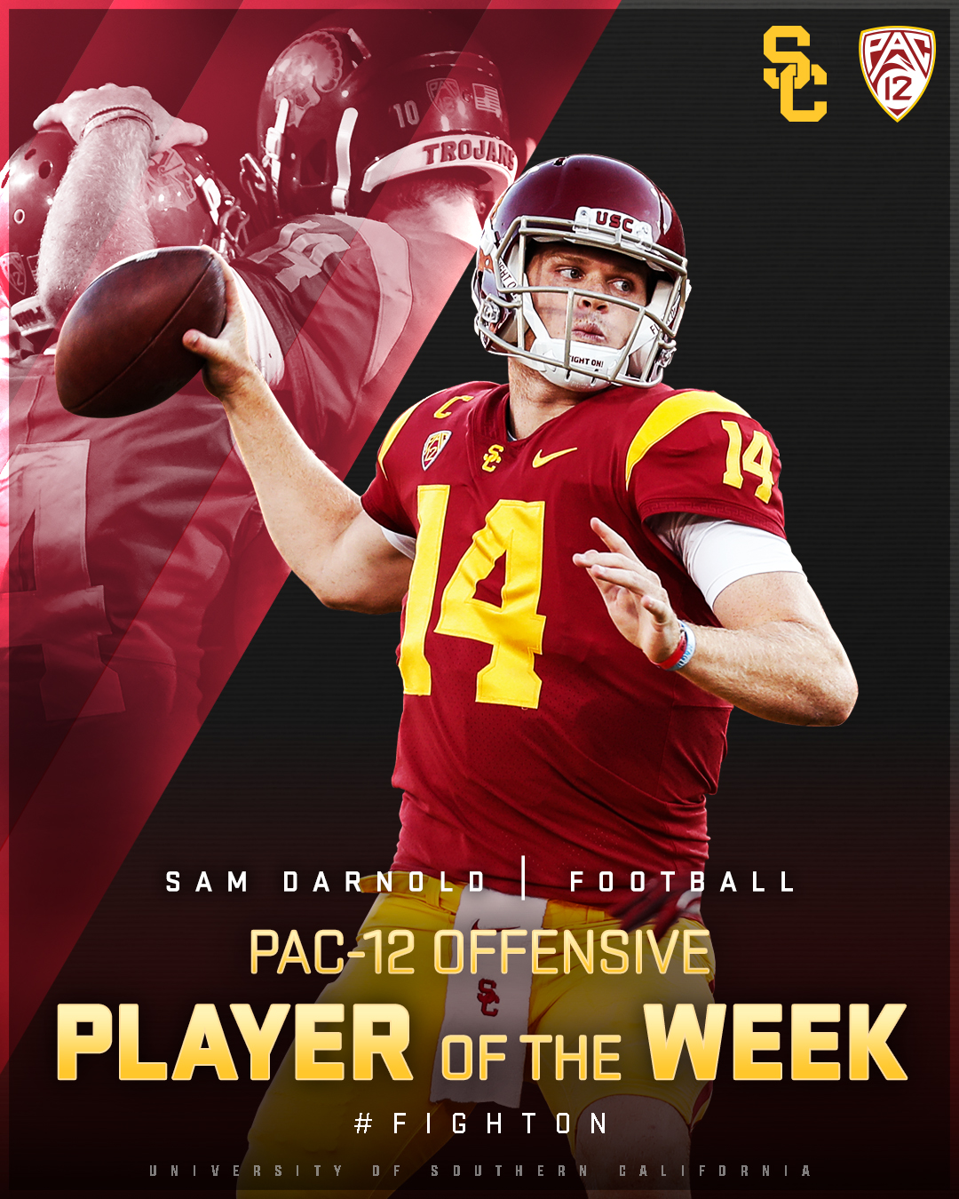 sam darnold usc football jersey