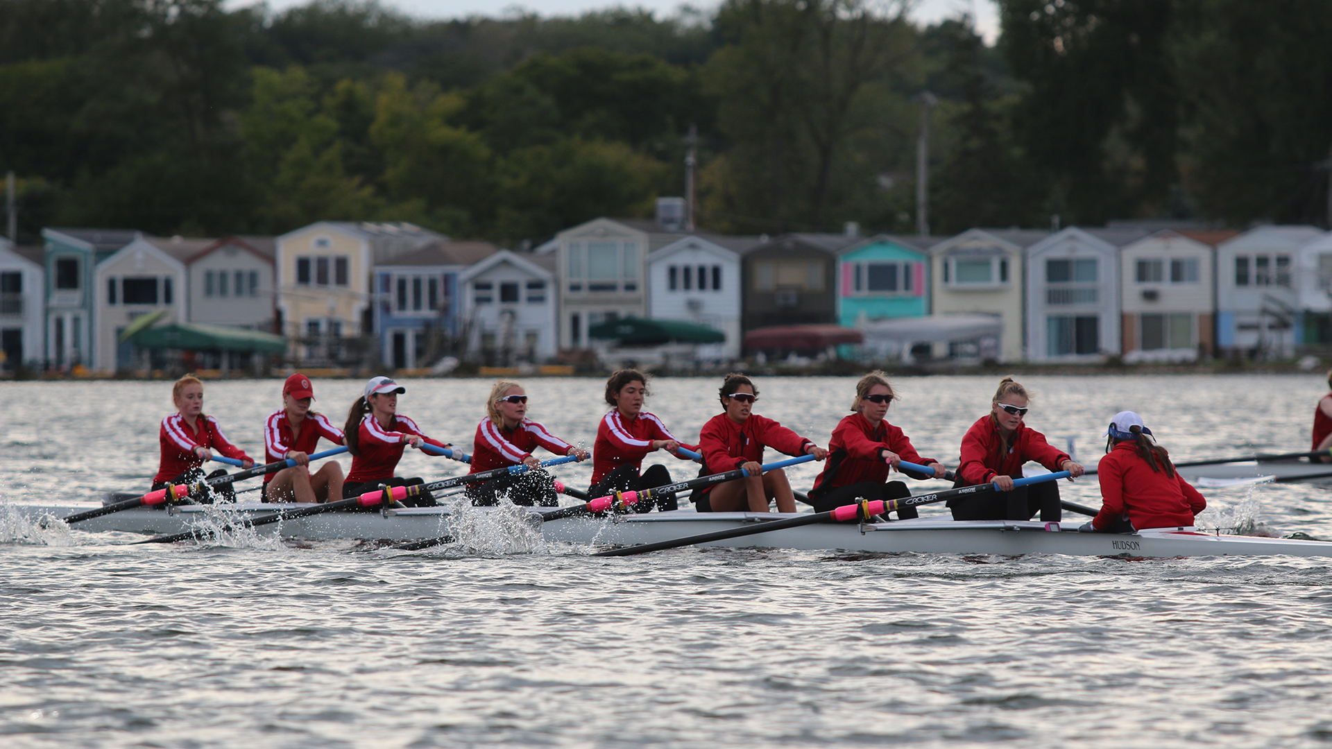 Lightweight eight scrimmage against Indiana and Iowa