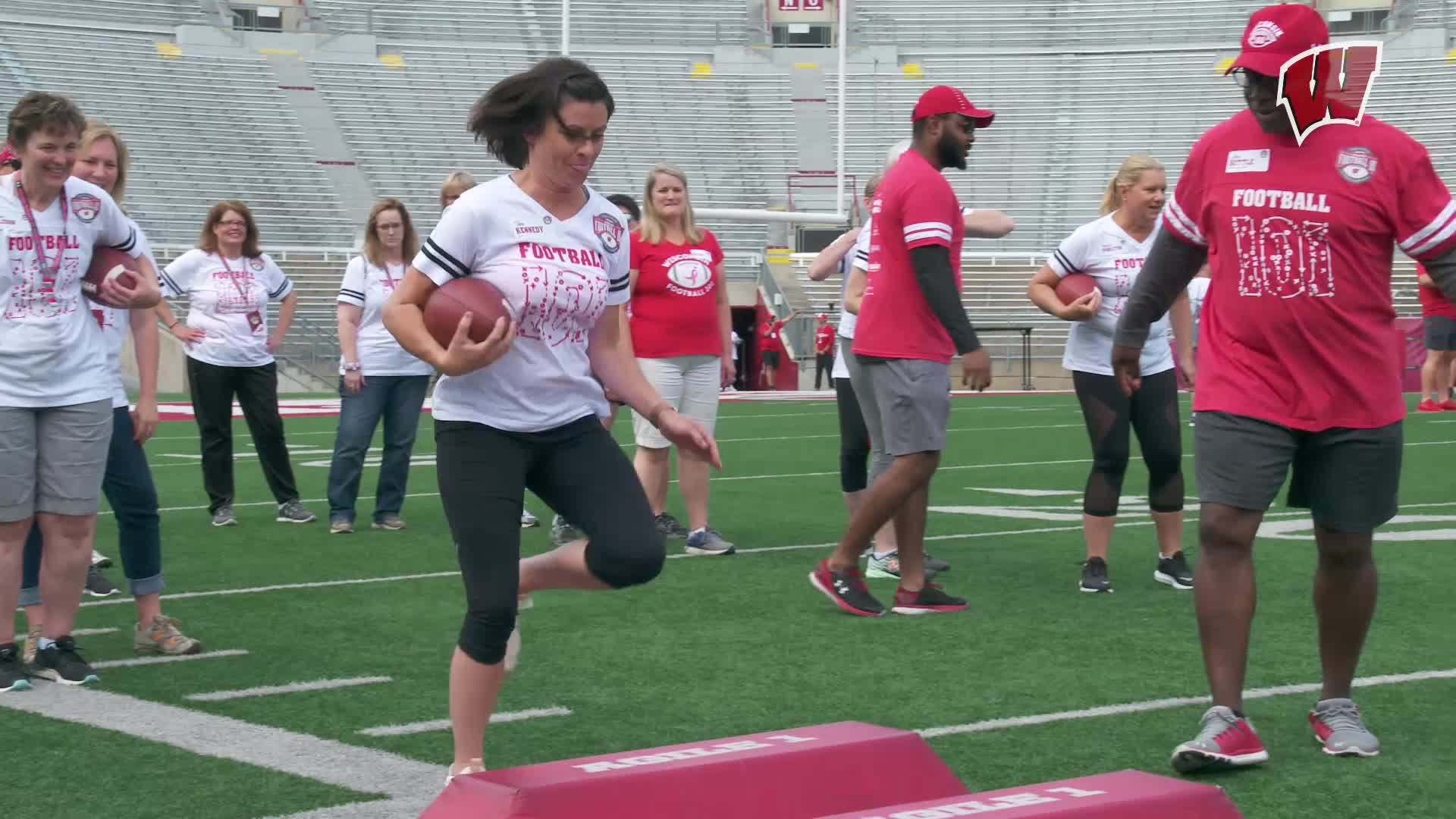 a7778c036c8a Badgers Host Football 101 Clinic with UW Carbone
