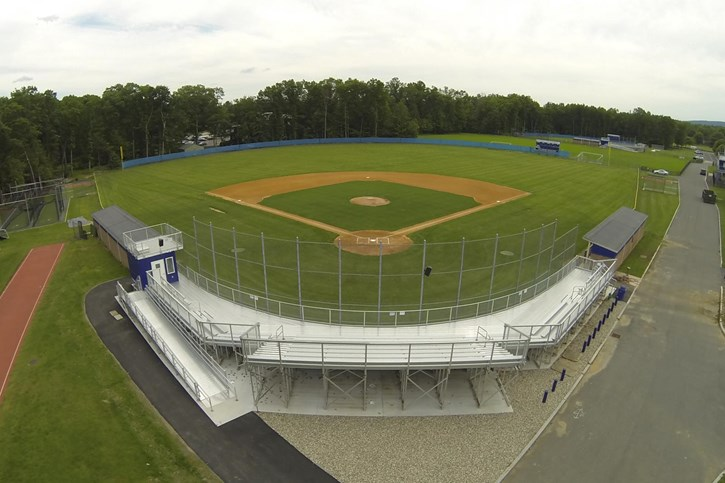 The Westfield State University newly upgraded baseball and softball facilities. Summer 2017
