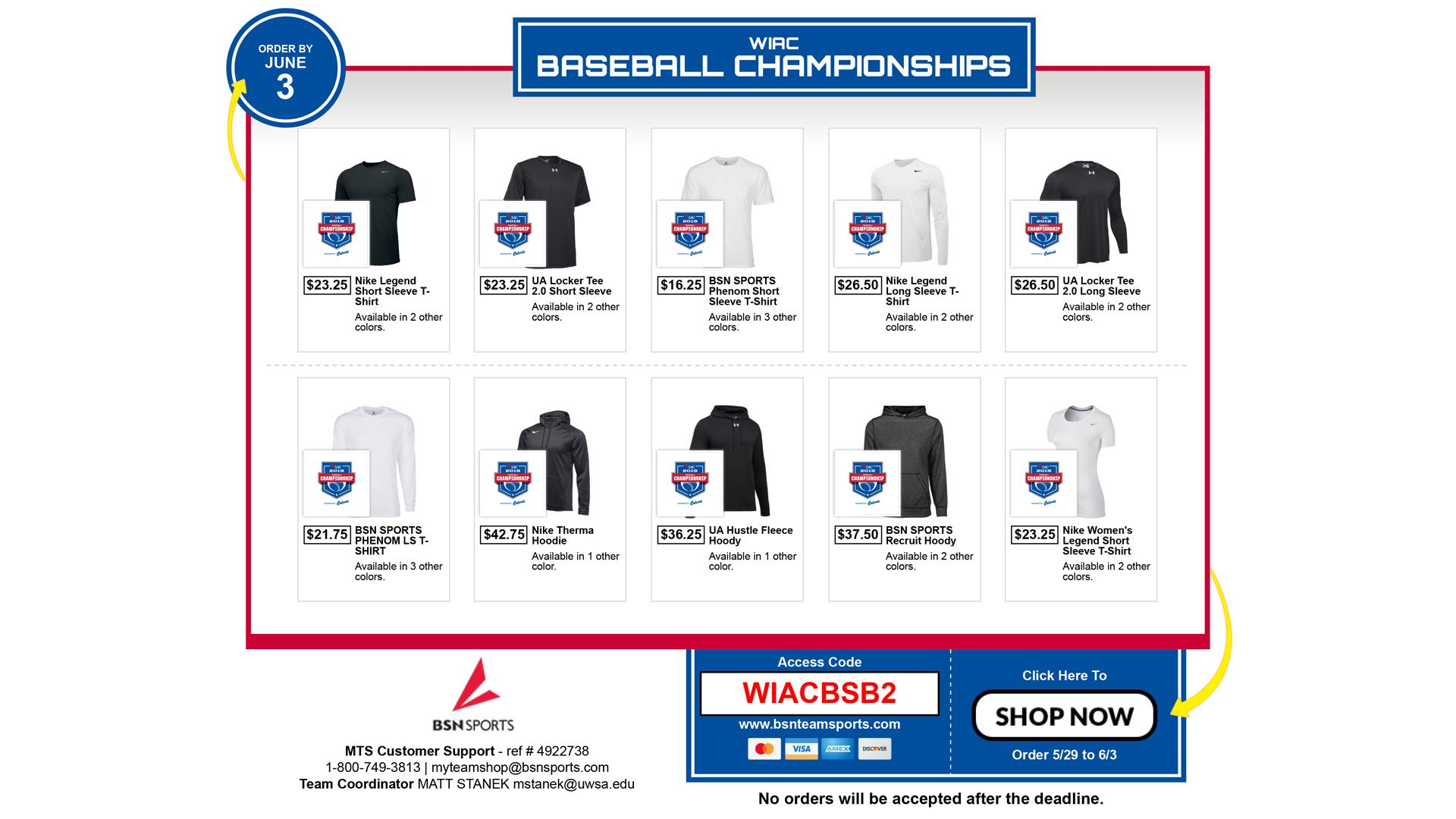a0f17b091f96f5 Purchase WIAC Baseball Championship Merchandise - Wisconsin ...