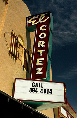 El Cortez Theater on Main Street in Truth or Consequences NM