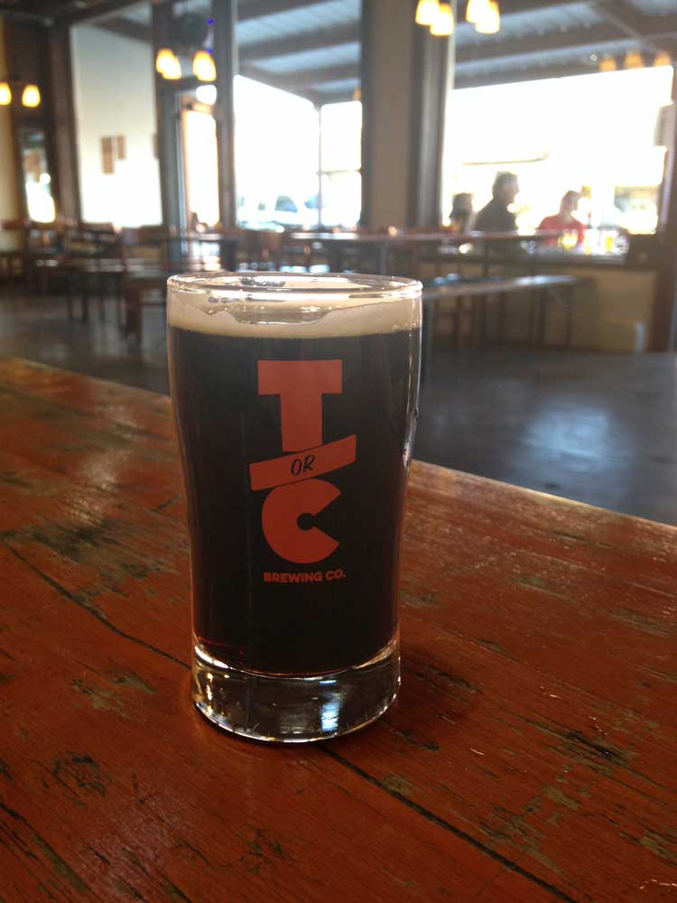 locally-brewed Porter at Truth or Consequences Brewing Co