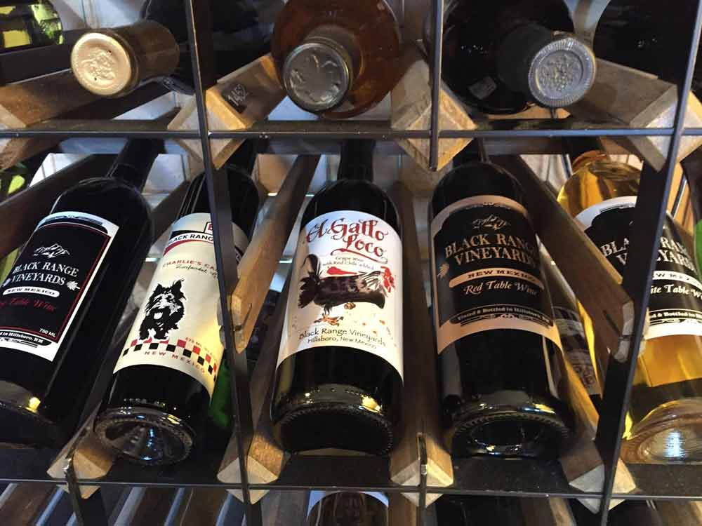 Black Range Vineyards in Hillsboro New Mexico sells wine by the bottle