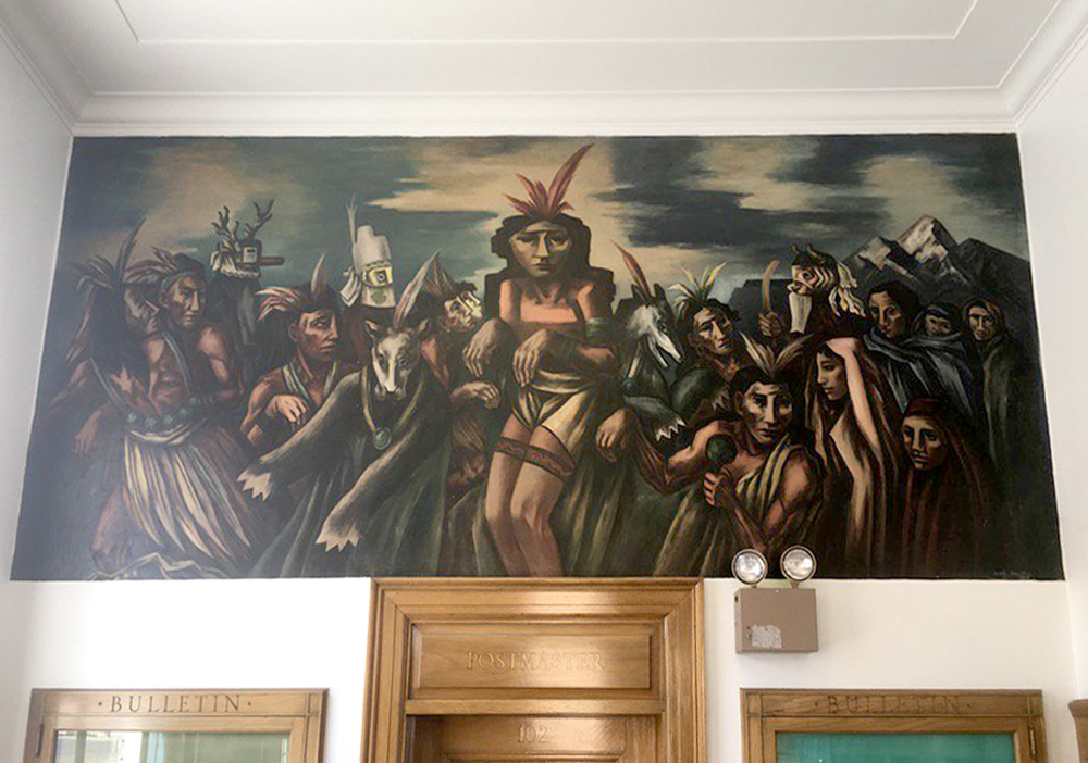 Indian Bear Dance, a WPA mural by Boris Deutsch