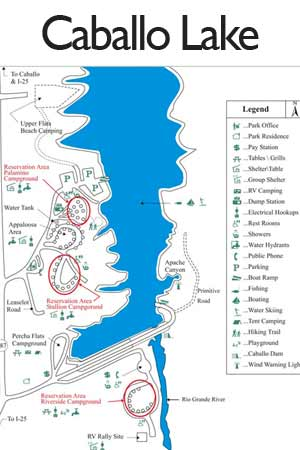 Caballo Lake camping sites