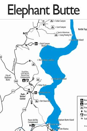 Elephant Butte Lake State Park camping sites