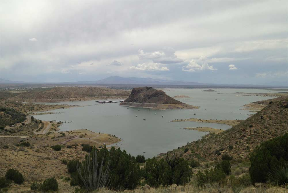 view of Elephant Butte Lake from Champagne Hills