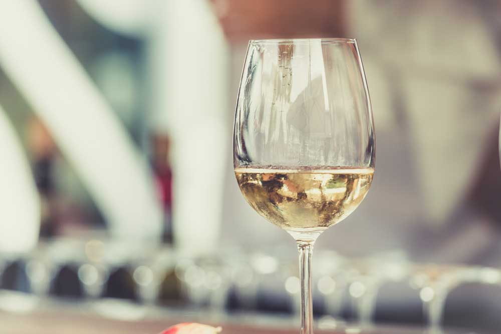 a delicious glass of white wine made in New Mexico