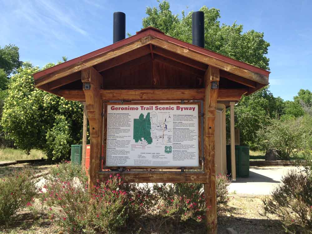 Geronimo Trail Byway Sign