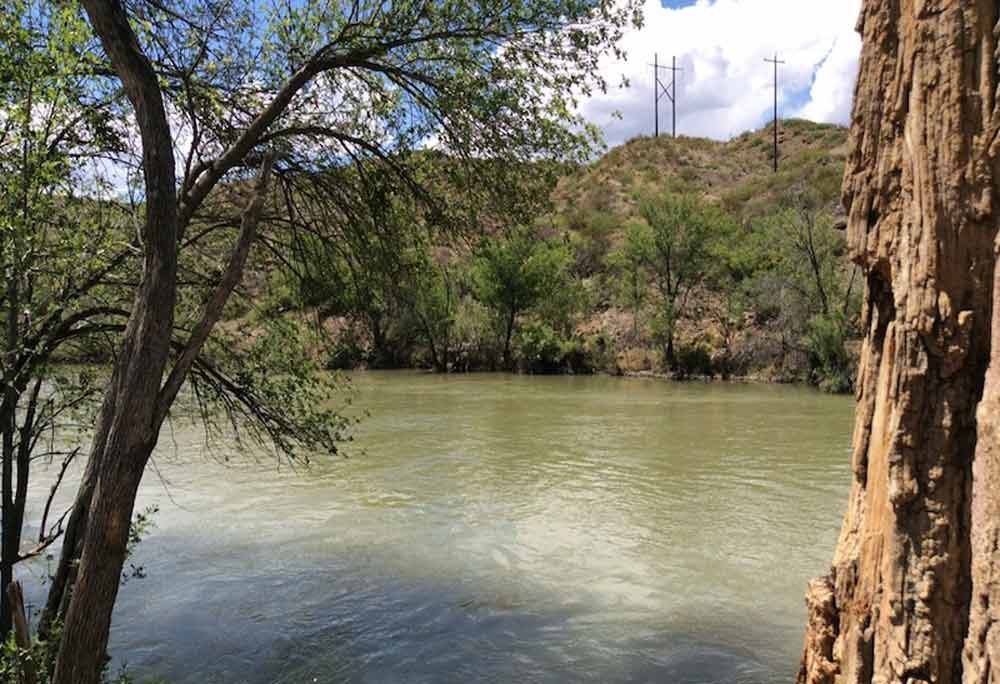 Paseo del Rio, also known as Fish Hatchery Park, is located on the banks of the Rio Grande below Elephant Butte Dam