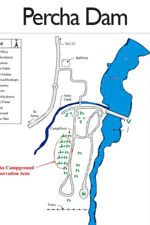 Percha Dam State Park camping sites