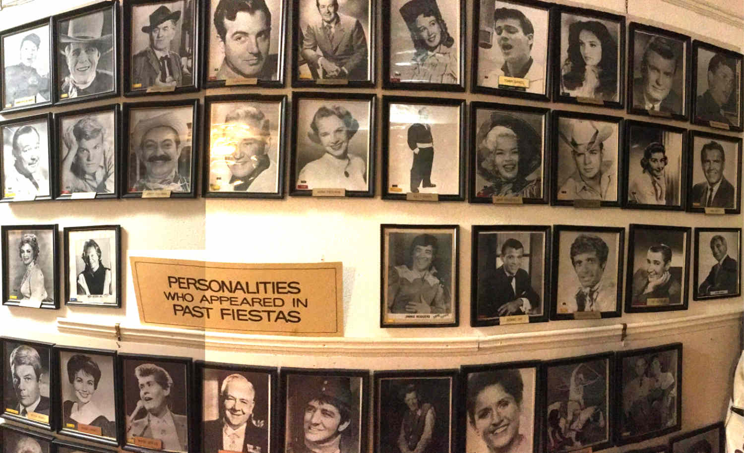 wall of stars who came to town for the Ralph Edwards Fiesta in Truth or Consequences NM