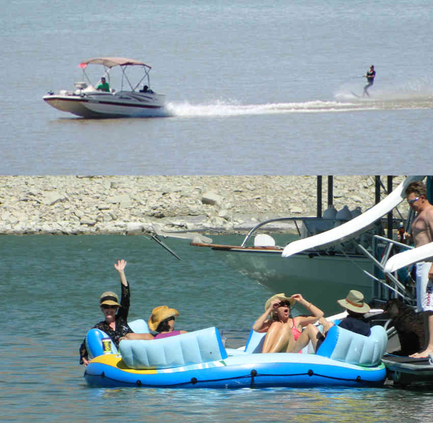 floating and boating at Elephant Butte Lake in southern New Mexico