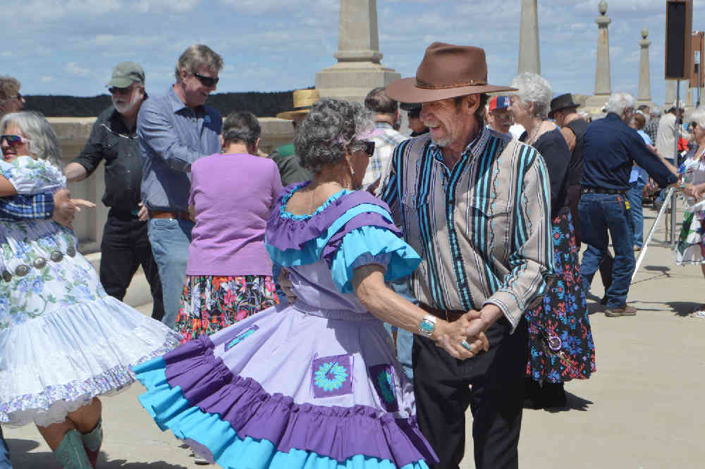 getting a dangle at a square dance on Elephant Butte Dam