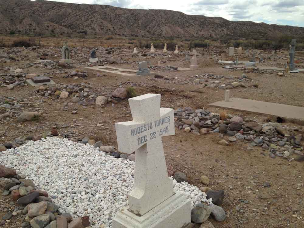 graves at the Cuchillo, New Mexico cemetery