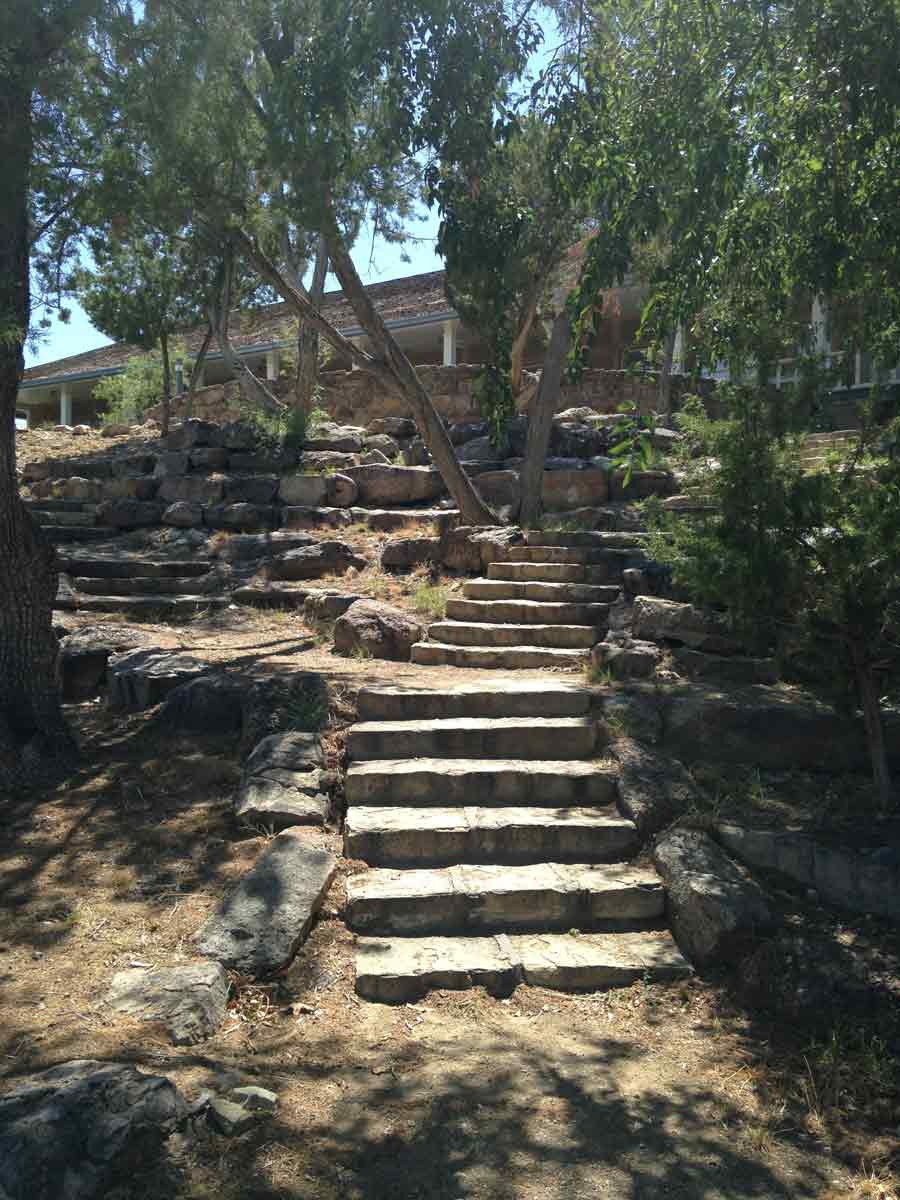stone steps built by the CCC, located at the Damsite Historic Recreation Area