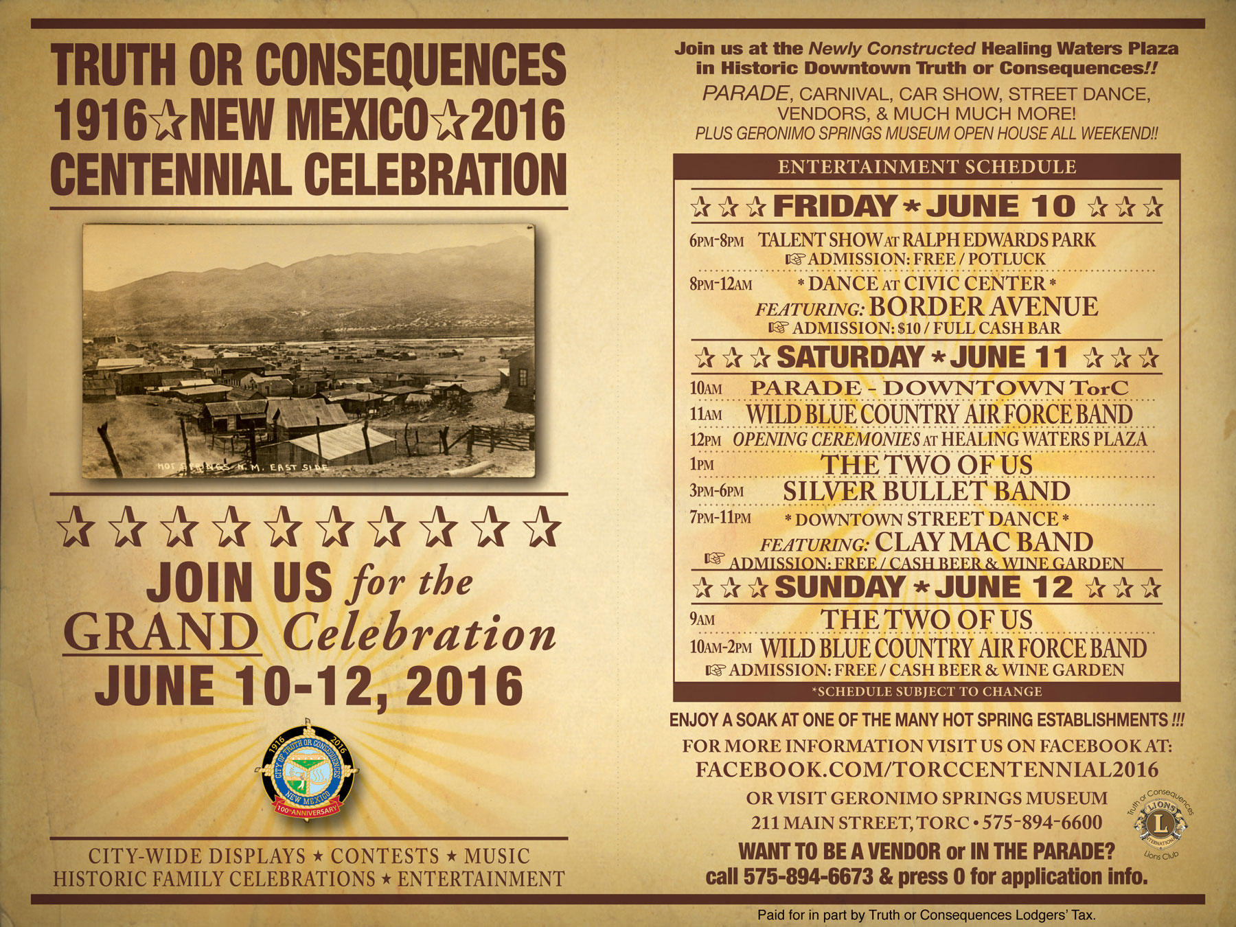Truth or Consequences Centennial Celebration