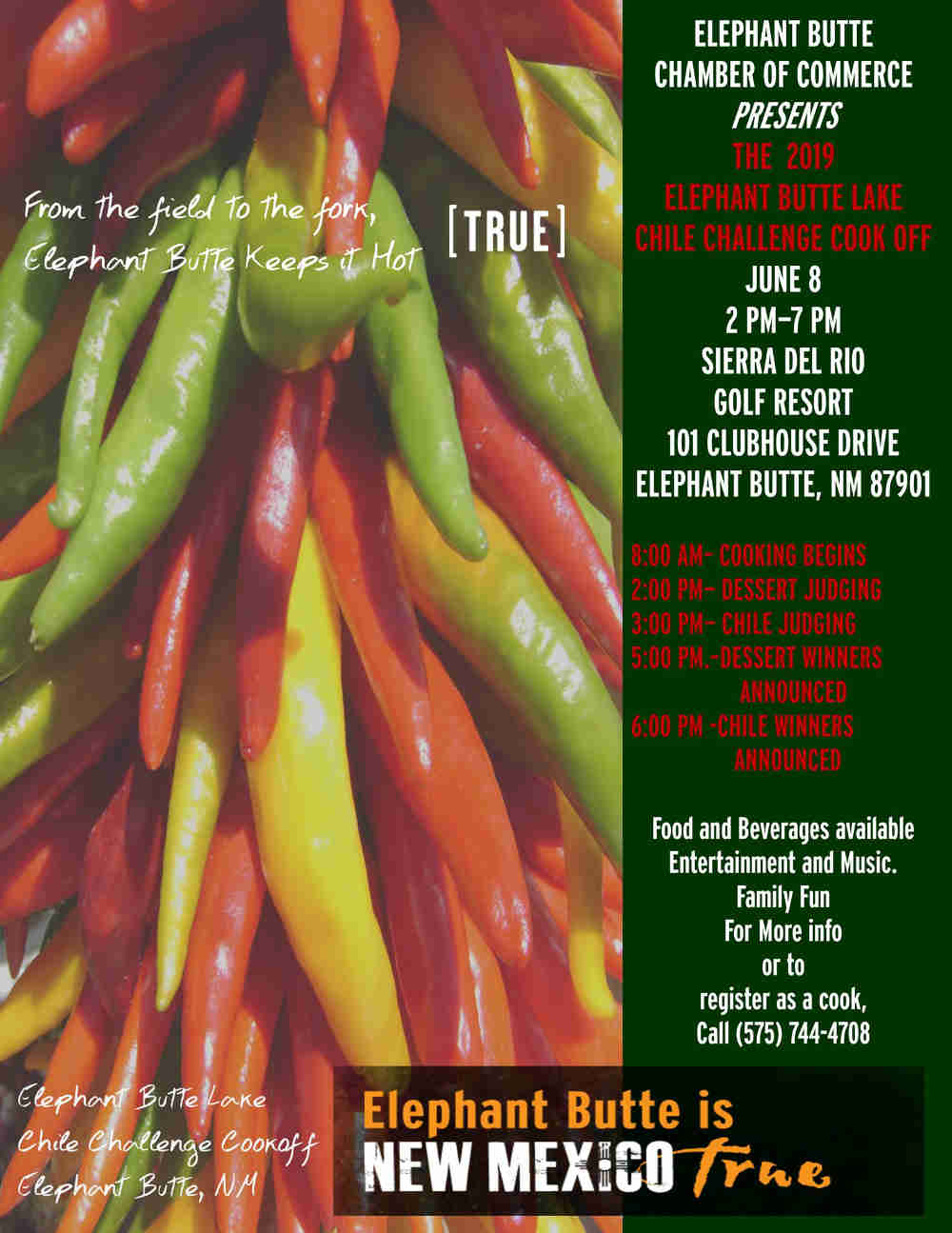 2019 Elephant Butte Chili Challenge Cook-off at Sierra del Rio