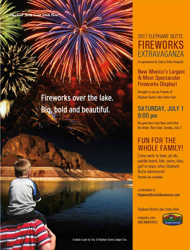 July Fourth Fireworks at Elephant Butte Lake