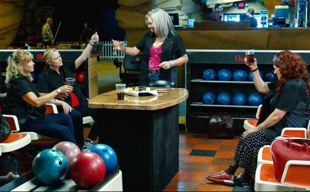 bowling alley scene from ROSE - a film by Rod McCall, made in Truth or Consequences New Mexico