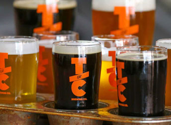 beer tasting at TorC Brewing in Truth or Consequences NM