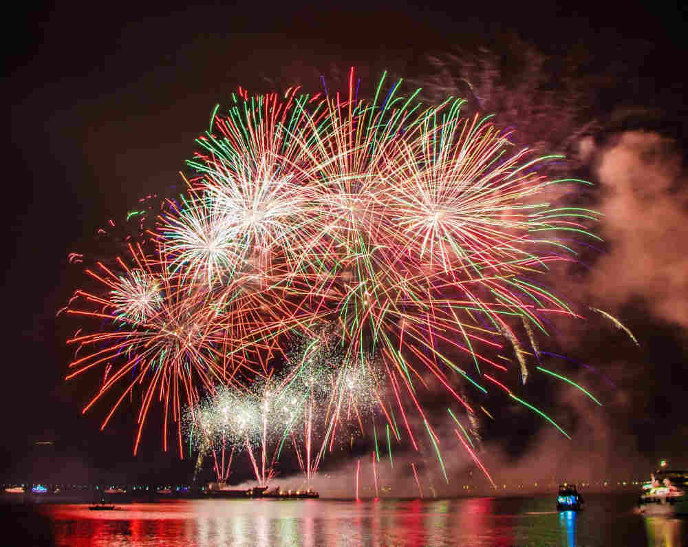 July 4 Fireworks over Elephant Butte Lake