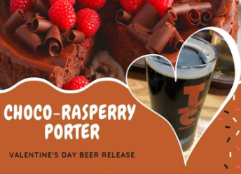Choco Raspberry Porter available February 14 at TorC Brewing in Truth or Consequences NM