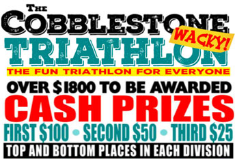 Cobble and Stone Wacky Triathlon