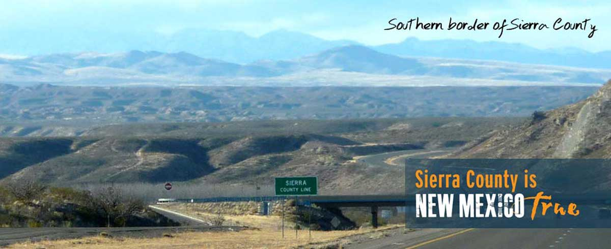 now entering Sierra County New Mexico