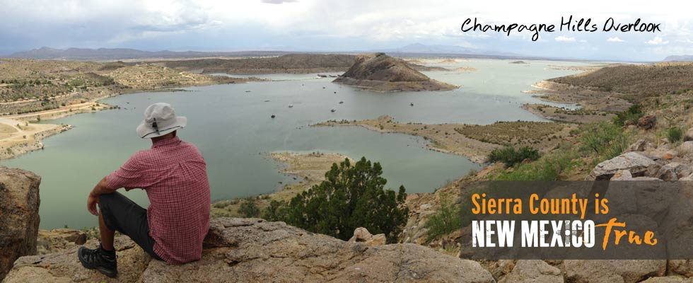 hiking trail overlook, Champagne Hills, Elephant Butte
