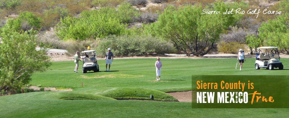 play a round of golf at Sierra del Rio Golf Course in Elephant Butte