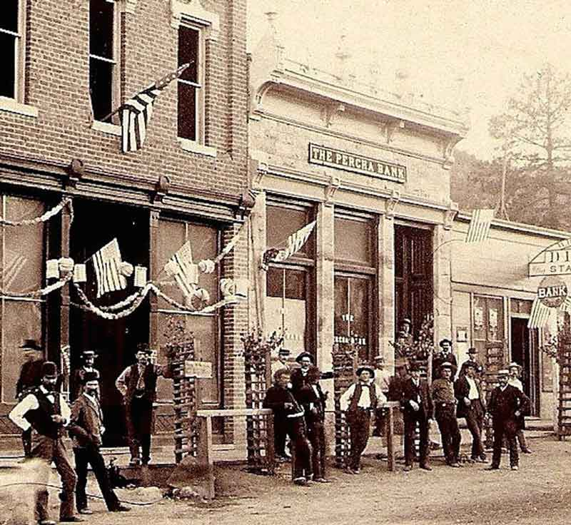 Percha Bank, Kingston New Mexico, July 4 1888