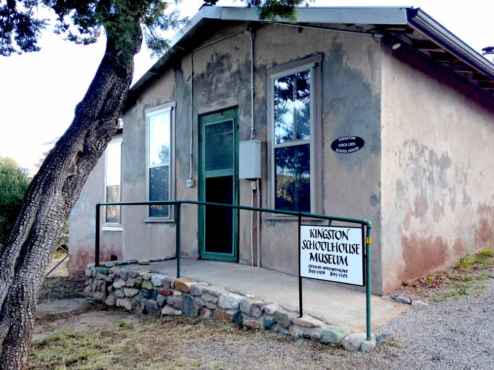 the old schoolhouse in Kingston New Mexico