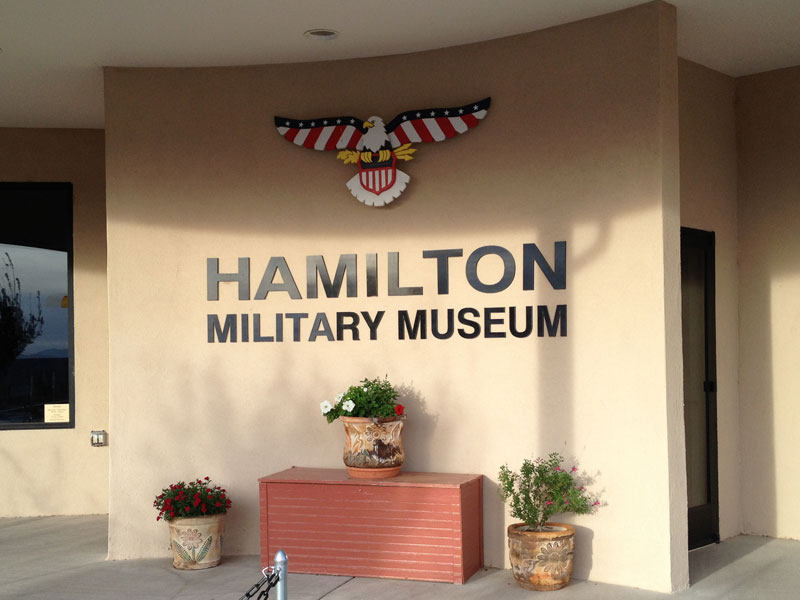 entrance to the Hamilton Military Museum at Veterans Memorial Park, Truth or Consequences New Mexico