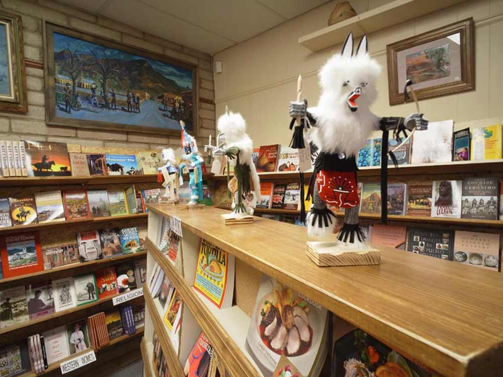 Kachina dolls in the gift shop at the Geronimo Springs Museum