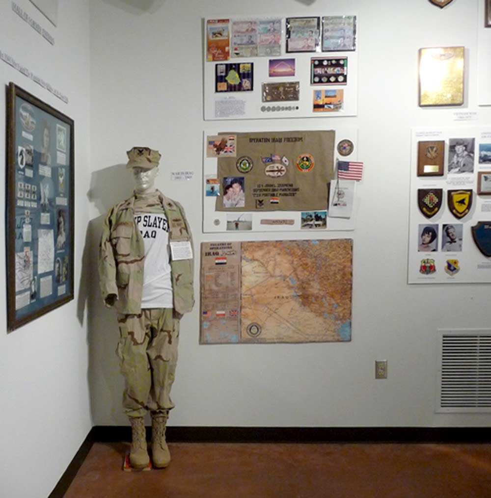 exhibit on Operation Iraqi Freedom at the Hamilton Military Museum at Veterans Memorial Park, Truth or Consequences New Mexico