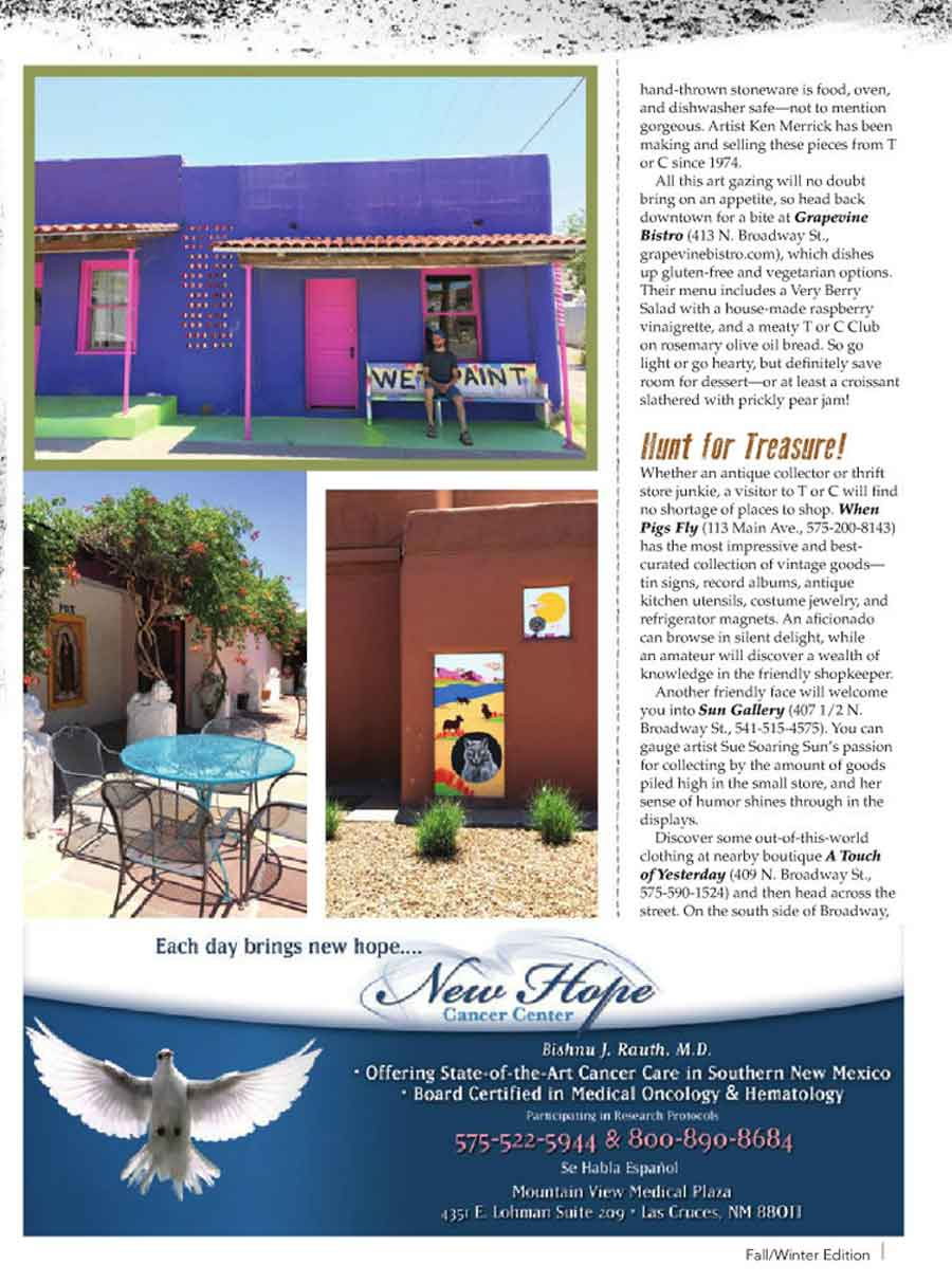 what to do on an overnight trip to Truth or Consequences NM, from Las Cruces Magazine