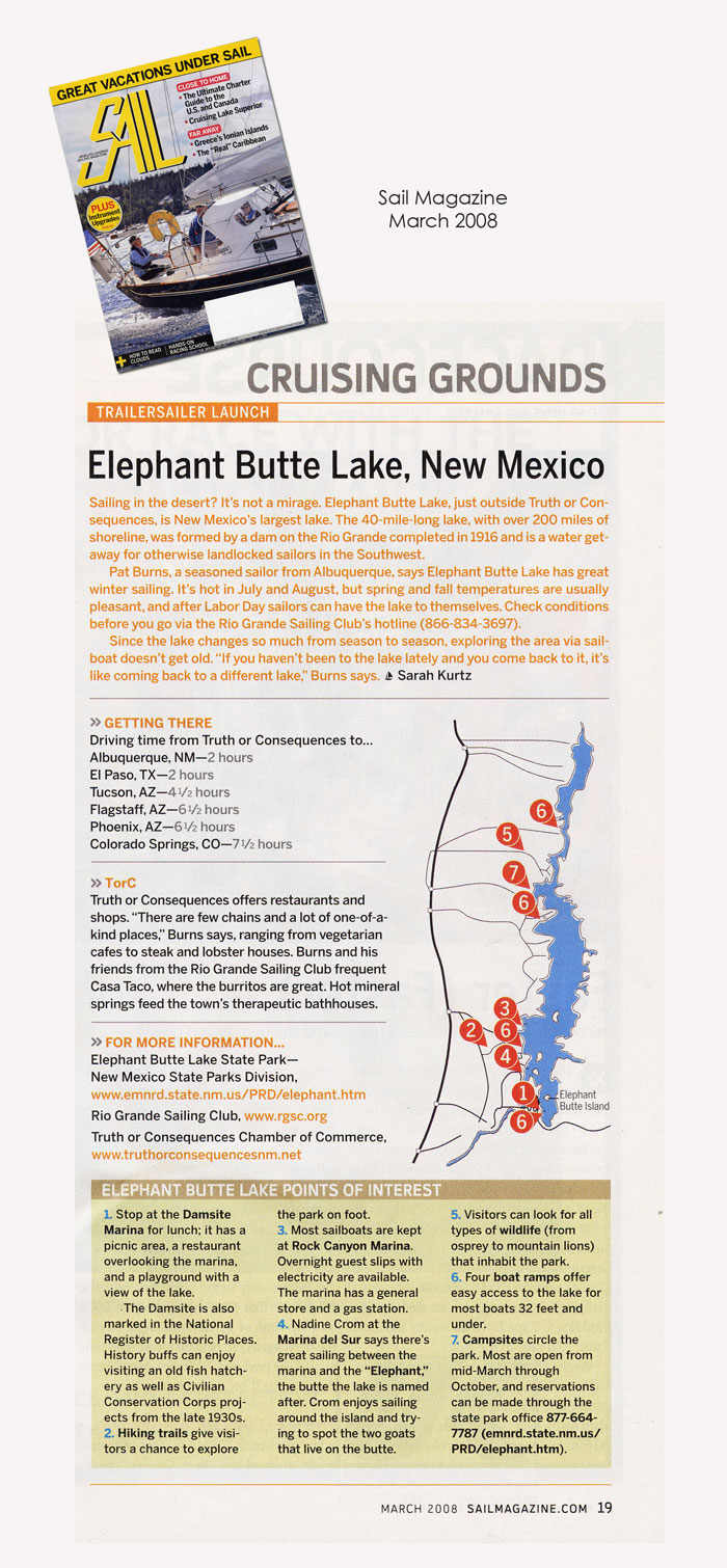 Cruising Grounds: Sail Boating in Elephant Butte New Mexico