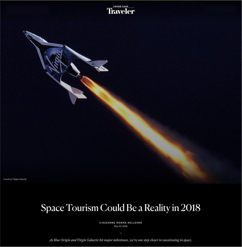 conde nast traveler - space tourism could be a reality in 2018