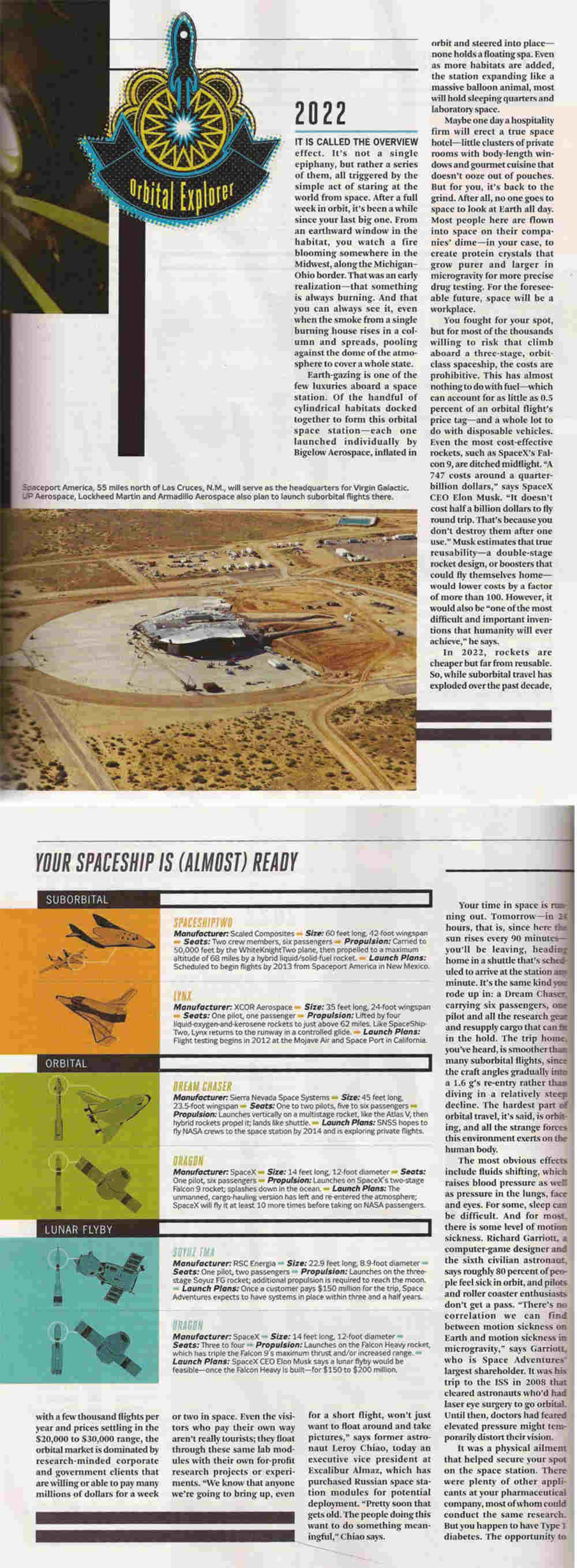 The Early Adopter's Guide to Space Travel - Popular Mechanics on Spaceport America