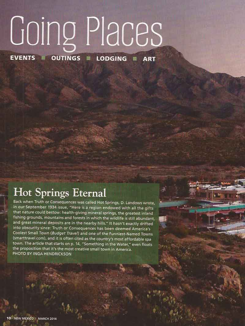 New Mexico Magazine March 2014 intro