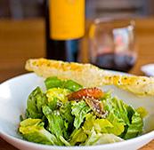 the Caesar salad at BellaLuca, restaurant italiano