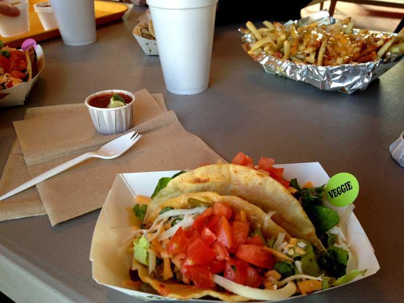 veggie tacos at Casa Taco