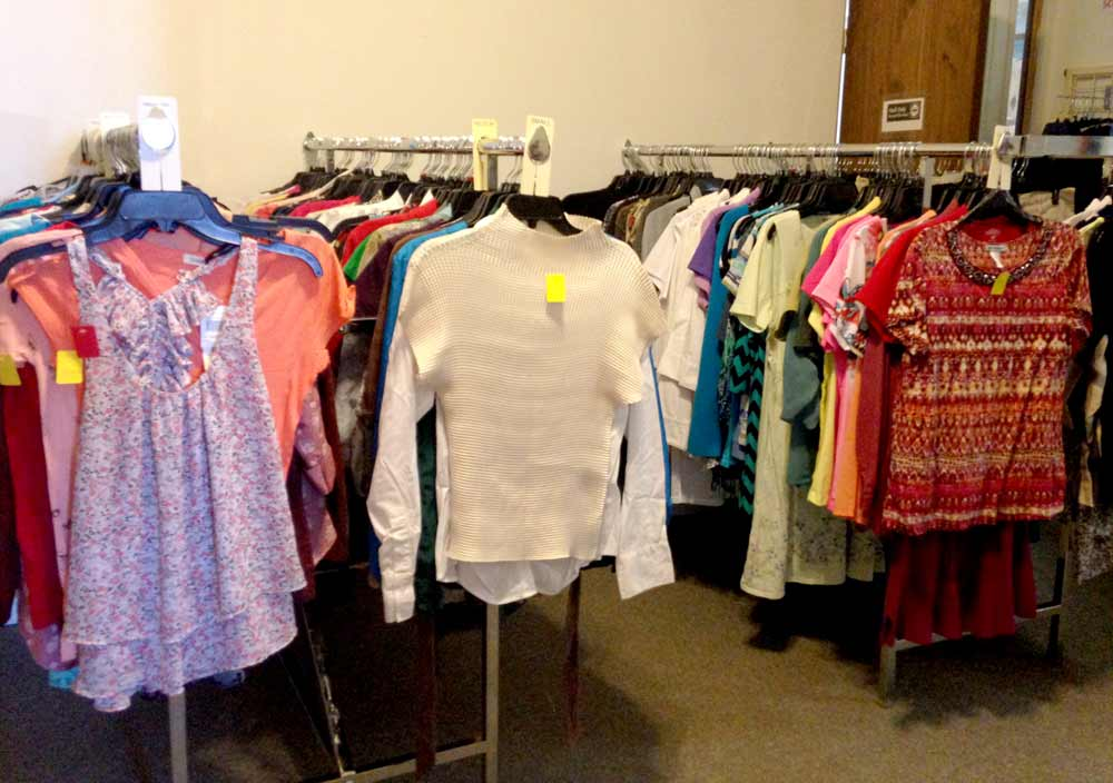 women's tops at CASA Kids and Company thrift store, Truth or Consequences NM